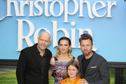 (L-R) Marc Forster, Hayley Atwell, Bronte Carmichael and Ewan McGregor attend the European Premiere of 'Christopher Robin' at BFI Southbank on August 5, 2018 in London, England.