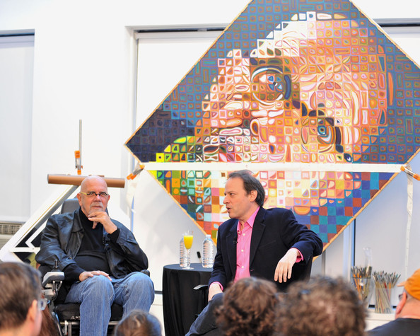 The 2009 New Yorker Festival: Inside the Artist's Studio with Chuck Close [event,art,world,chuck close,adam gopnik,new york city,chuck close studio,new yorker festival: inside the artists studio]