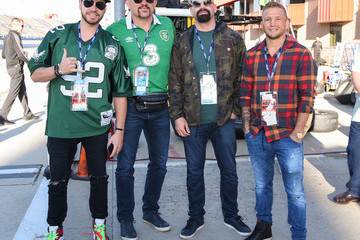 Chuck Liddell Celebrities At The Monster Energy NASCAR Cup Series Race At Auto Club Speedway