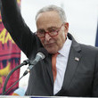 Chuck Schumer Thousands Welcome Back Congress by Marching For Citizenship, Care, And Climate Justice in Washington DC