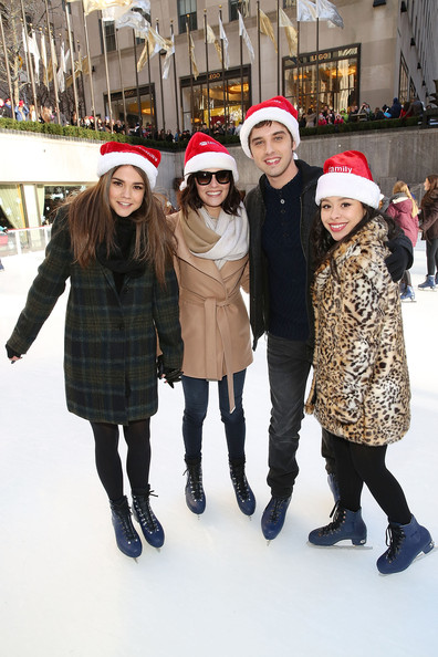 "ABC's ""25 Days Of Christmas"" Celebration [25 days of christmas,people,ice skating,winter,fashion,fun,recreation,snow,ice skate,child,headgear,actors,maia mitchell,cierra ramirez,david lambert,italia ricci,rockerfellar center,new york city,abc,celebration]"