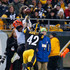Morgan Burnett Photos - Morgan Burnett #42 of the Pittsburgh Steelers breaks up a pass intended for Cody Core #16 of the Cincinnati Bengals in the first quarter during the game at Heinz Field on December 30, 2018 in Pittsburgh, Pennsylvania. - Cincinnati Bengals v Pittsburgh Steelers