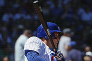 Anthony Rizzo #44 of the Chicago Cubs bats against the Chicago Cubs at Wrigley Field on July 6, 2018 in Chicago, Illinois. The Reds defeated the Cubs 3-2.