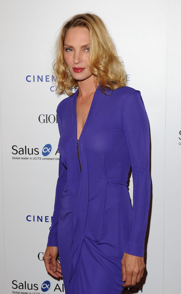 Jury Member Uma Thurman attends Cinema For Peace during the 64th Annual Cannes Film Festival on May 18, 2011 in Cannes, France.