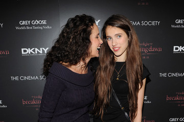 """Andie MacDowell Sarah Margaret Qualley The Cinema Society & DKNY Host A Screening Of """"The Twilight Saga: Breaking Dawn - Part 1"""" - Inside Arrivals"""