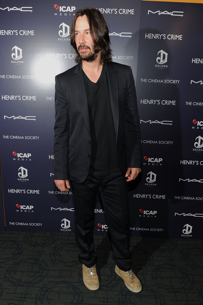 "Actor Keanu Reeves attends the Cinema Society with DeLeon Tequila and Moving Pictures Film & Television screening Of ""Henry's Crime"" at Landmark's Sunshine Cinema on April 4, 2011 in New York City."