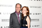 """Director Marc Abraham and actress Wrenn Schmidt attend The Cinema Society With Hestia & St-Germain Host a Screening of Sony Pictures Classics' """"I Saw the Light"""" at Metrograph on March 24, 2016 in New York City."""
