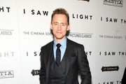 """Actor Tom Hiddleston attends The Cinema Society With Hestia & St-Germain Host a Screening of Sony Pictures Classics' """"I Saw the Light"""" at Metrograph on March 24, 2016 in New York City."""
