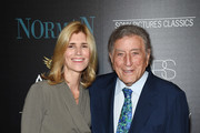 "Susan Benedetto and Tony Bennett attend a screening of Sony Pictures Classics' ""Norman"" hosted by The Cinema Society at the Whitby Hotel on April 12, 2017 in New York City."