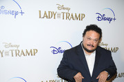 "Rose and Adrian Martinez attend as Cinema Society hosts a special screening of Disney+'s ""Lady And The Tramp"" at iPic Theater on October 22, 2019 in New York City."