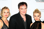 "(L-R) Actress Diane Kruger, writer/director Quentin Tarantino and actress Melanie Laurent attend the Cinema Society and Hugo Boss screening of ""Inglourious Basterds"" at the SVA Theater on August 17, 2009 in New York City."