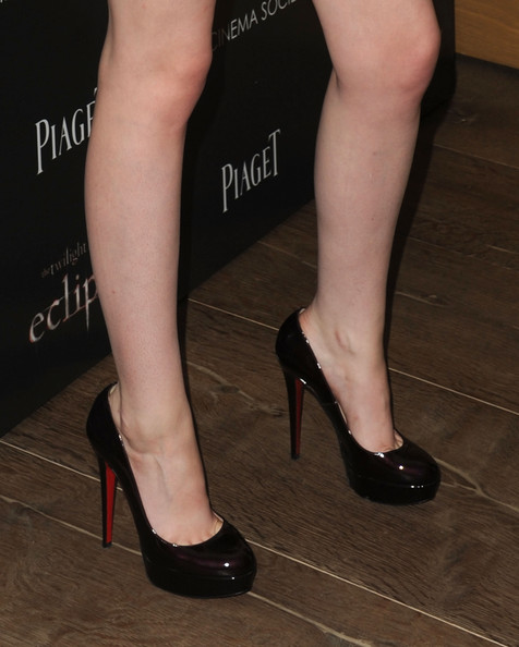 "Kristen Stewart A close up of actress Kristen Stewart's shoes at The Cinema Society Screening Of ""The Twilight Saga: Eclipse"" at Crosby Street Hotel on June 28, 2010 in New York, New York."