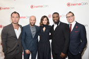 (L-R) Actors Jude Law, Jason Statham, Rose Byrne, rapper Curtis '50 Cent' Jackson III and Director Paul Feig attend 20th Century Fox Invites You to a Special Presentation Highlighting Its Future Release Schedule at The Colosseum at Caesars Palace during CinemaCon, the official convention of the National Association of Theatre Owners, on April 23, 2015 in Las Vegas, Nevada.