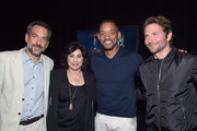 "(L-R) Director Todd Phillips, Warner Bros. Pictures President of Worldwide Marketing and Distribution Sue Kroll, actors Will Smith and Bradley Cooper attend CinemaCon 2016 Warner Bros. Pictures Invites You to ""The Big Picture"", an Exclusive Presentation Highlighting the Summer of 2016 and Beyond at The Colosseum at Caesars Palace during CinemaCon, the official convention of the National Association of Theatre Owners, on April 12, 2016 in Las Vegas, Nevada."