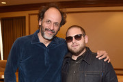 Director Luca Guadagnino (L) and actor Jonah Hill attend CinemaCon 2018- Amazon Studios: An Exciting New Year of Great Product for Cinemas Program at Caesars Palace during CinemaCon, the official convention of the National Association of Theatre Owners, on April 26, 2018 in Las Vegas, Nevada.