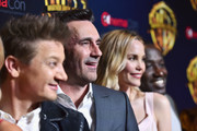 """(L-R) Actors Jeremy Renner, Jon Hamm, Leslie Bibb and Hannibal Buress attend CinemaCon 2018 Warner Bros. Pictures Invites You to """"The Big Picture"""", an Exclusive Presentation of our Upcoming Slate at The Colosseum at Caesars Palace during CinemaCon, the official convention of the National Association of Theatre Owners, on April 24, 2018 in Las Vegas, Nevada."""