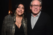 (L-R) Director Gurinder Chadha and Bill Condon pose backstage at CinemaCon 2019 Warner Bros. Pictures Invites You to ?The Big Picture?, an Exclusive Presentation of its Upcoming Slate at The Colosseum at Caesars Palace during CinemaCon, the official convention of the National Association of Theatre Owners, on April 2, 2019 in Las Vegas, Nevada.