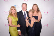 (L-R) Honoree Kathie Lee Gifford,husband Frank Gifford, and honorees Kristin Chenoweth and Heather Thomson attend the City of Hope-East End Chapter 2010 Spirit of Life Award luncheon at Waldorf Astoria - Grand Ballroom on April 26, 2010 in New York City.
