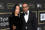 Monique Idlett (L) and Timbaland attend the City of Hope Spirit of Life Gala 2018 at Barker Hangar on October 11, 2018 in Santa Monica, California.