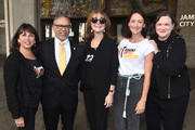 """Sue Schwartz, Dr. David M. Carlisle, Rusty Robertson, Bree Turner and Kathleen Lobb attend a ceremony Proclaiming September 7, 2018 as official """"Step Up To Cancer"""" Day In Los Angeles at Los Angeles City Hall on August 29, 2018 in Los Angeles, California."""
