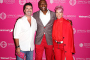 (L-R) Simon Cowell, Terry Crews, and Rebecca King-Crews attend City Year Los Angeles' Spring Break: Destination Education at Sony Studios on May 04, 2019 in Los Angeles, California.