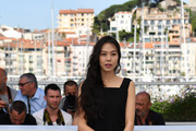 South Korean actress Kim Min-hee poses on May 21, 2017 during a photocall for the film 'Claire's Camera (Keul-Le-eE-Ui-Ka-Me-La)' at the 70th edition of the Cannes Film Festival in Cannes, southern France.  / AFP PHOTO / Alberto PIZZOLI