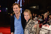 Tony Adams and Poppy Teacher attend the World premiere of 'The Class of 92' at Odeon West End on December 1, 2013 in London, England.