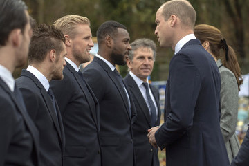 Claude Puel The Duke And Duchess Of Cambridge Visit Leicester