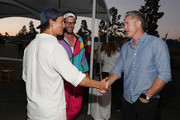 (L-R) Matthew McConaughey, Clayton Kershaw and Chase Utley attend Clayton Kershaw's 6th Annual Ping Pong 4 Purpose on August 23, 2018 in Los Angeles, California.