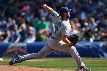 Clayton Kershaw Los Angeles Dodgers v Chicago Cubs