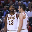 Kevin Love and Tristan Thompson Photos