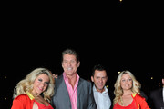 (L-R) David Hasselhoff and Radio DJ Scott Mills attend the Clintons celebration of their forthcoming UK launch of the Celebrity Fastcard with David Hasselhoff, Alesha Dixon, Scott Mills and Teezy at No 5 Cavendish Square on October 18, 2011 in London, England. The Celebrity Fastcard will be launched on 24th October, 2011.