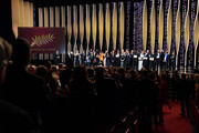Jury and winners on stage at the Closing Ceremony during the 72nd annual Cannes Film Festival on May 25, 2019 in Cannes, France.