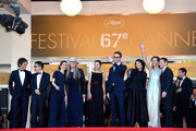 "(L-R) Jury members Gael Garcia Bernal, Zhangke Jia, Sofia Coppola, Jury President Jane Campion, jury members Do-yeon Jeon, Nicolas Winding Refn, Leila Hatami, Carole Bouquet and Willem Dafoe attend the Closing Ceremony and ""A Fistful of Dollars"" screening during the 67th Annual Cannes Film Festival on May 24, 2014 in Cannes, France."