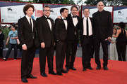 Producers Michel Franco, Rodolfo Cova, actor Luis Silva, director Lorenzo Vigas, actor Alfredo Castro and producer Guillermo Arriaga from the film 'From Afar' attend the closing ceremony and premiere of 'Lao Pao Er' during the 72nd Venice Film Festival on September 12, 2015 in Venice, Italy.