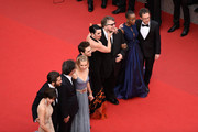 "Sophie Marceau,  Jake Gyllenhaal, Joel Coen, Sienna Miller, Xavier Dolan, Rossy de Palma, Guillermo del Toro, Rokia Traore and Ethan Coen attend the closing ceremony and Premiere of ""La Glace Et Le Ciel"" (""Ice And The Sky"") during the 68th annual Cannes Film Festival on May 24, 2015 in Cannes, France."