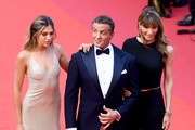 """Sistine Rose Stallone, Sylvester Stallone and Jennifer Flavin attend the closing ceremony screening of """"The Specials"""" during the 72nd annual Cannes Film Festival on May 25, 2019 in Cannes, France."""