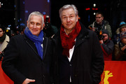 Klaus Wowereit (R) and his husband Joern Kubicki  attends the Closing Ceremony of the 65th Berlinale International Film Festival at Berlinale Palace on February 14, 2015 in Berlin, Germany.