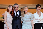(L-R) Actress Kristen Stewart, director Olivier Assayas, actress Chloe Grace Moretz and actress Juliette Binoche attend the 'Clouds Of Sils Maria' premiere during the 67th Annual Cannes Film Festival on May 23, 2014 in Cannes, France.
