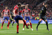 Diego Godin of Atletico Madrid scores his team's second goal during the UEFA Champions League Round of 16 First Leg match between Club Atletico de Madrid and Juventus at Estadio Wanda Metropolitano on February 20, 2019 in Madrid, Spain.