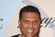 Former NBA player and head coach of Cal State Northridge Reggie Theus attends the Coach Woodson Las Vegas Invitational red carpet and pairings party at 1 OAK Nightclub at The Mirage Hotel & Casino on July 10, 2016 in Las Vegas, Nevada.