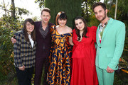 (L-R) Bonnie Chance Roberts, Josh Dallas, Ginnifer Goodwin, Beanie Feldstein, and Ben Platt attend GOLD MEETS GOLDEN 2020, presented by Coca-Cola, BMW Beverly Hills And FASHWIRE, and hosted by Nicole Kidman and Nadia Comaneci, At The Virginia Robinson Gardens And Estate on January 04, 2020 in Beverly Hills, California.