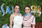 (L-R) Hunter King and Joey King attend GOLD MEETS GOLDEN 2020, presented by Coca-Cola, BMW Beverly Hills And FASHWIRE, and hosted by Nicole Kidman and Nadia Comaneci, At The Virginia Robinson Gardens And Estate on January 04, 2020 in Beverly Hills, California.