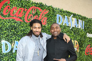 Chris Copeland (L) and Metta World Peace attend GOLD MEETS GOLDEN 2020, presented by Coca-Cola, BMW Beverly Hills And FASHWIRE, and hosted by Nicole Kidman and Nadia Comaneci, At The Virginia Robinson Gardens And Estate on January 04, 2020 in Beverly Hills, California.