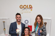 """(L-R) David Boudia, Tatyana McFadden and Cassie Sharpe attend The 6th Annual """"Gold Meets Golden"""" Brunch, hosted by Nicole Kidman and Nadia Comaneci and presented by Coca-Cola at The House on Sunset on January 5, 2019 in West Hollywood, California."""