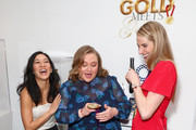 "(L-R) Michelle Kwan, Danielle Macdonald and Missy Franklin attend The 6th Annual ""Gold Meets Golden"" Brunch, hosted by Nicole Kidman and Nadia Comaneci and presented by Coca-Cola at The House on Sunset on January 5, 2019 in West Hollywood, California."