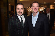 David Furnish and Stephen Flynn attend a cocktail party hosted by the Elton John AIDS Foundation and BBVA Compass to celebrate EJAF, the 90th Academy Awards, and to honor Chef Joan Roca on March 2, 2018 in Beverly Hills, California.