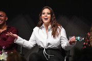 """Ashley Graham attends Cocktails and a Conversation with the Stars of Lifetime's """"American Beauty Star"""" featuring host and executive producer Ashley Graham, mentor Sir John and judges Christie Brinkley and Leah Wyar on January 17, 2019 in New York City."""