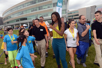 Coco Jones Olympic Gold Medal Winning Gymnast, Aly Raisman Joins BOKS Active Kids Day At Reebok Headquarters