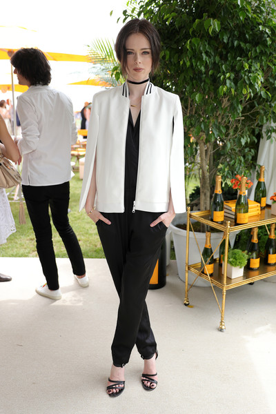 The Ninth Annual Veuve Clicquot Polo Classic - VIP [white,suit,clothing,blazer,fashion,formal wear,outerwear,yellow,snapshot,tuxedo,coco rocha,jersey city,new jersey,liberty state park,ninth,vip,veuve clicquot polo classic]